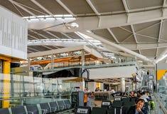Heathrow, Terminal 5, Londen, het UK - 25 September, 2017: Stille overzees Stock Afbeelding