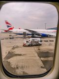 Heathrow Terminal 5, Londyn, UK Wrzesień 25, 2017: Widok od t Fotografia Royalty Free