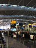 Heathrow Terminal 5 odjazdy zdjęcia royalty free