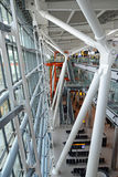 Heathrow terminal 5 pillars Royalty Free Stock Photos