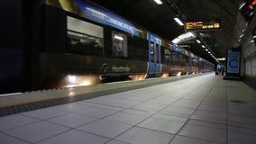 Heathrow uitdrukkelijk trainmoving Groot-Brittannië Juli 2017 Londen het UK stock videobeelden