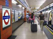 Heathrow underground station Stock Photos