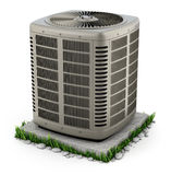 Heating and air conditioner unit Royalty Free Stock Photos