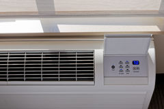 Heating - Air conditioning Thermostat. With Window Royalty Free Stock Photography