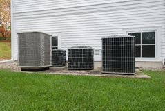 Heating and air conditioning units. Used to heat and cool a church building royalty free stock photography