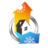 Heating And Cooling House Design Stock Images