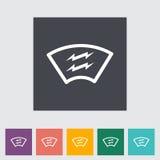 Heating automotive glass. Single flat icon Stock Image