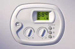 Heating boiler control panel Stock Photos