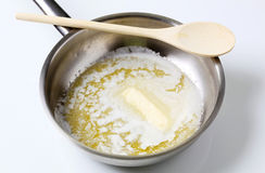 Heating butter Stock Photography