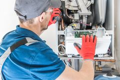 Free Heating Central Gas Furnace Stock Image - 152740681