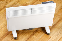 Heating convector in room Royalty Free Stock Photos