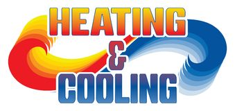 Heating and Cooling Design Royalty Free Stock Photos