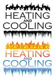 Heating and Cooling Designs Royalty Free Stock Images
