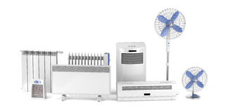 Heating and cooling electric devices Royalty Free Stock Photos