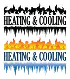 Heating and Cooling Emblem Royalty Free Stock Images