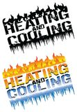 Heating and Cooling Emblems Royalty Free Stock Photos