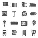Heating And Cooling Icon Set Stock Images
