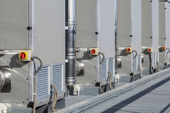 Heating and cooling system. Heating and cooling installation system Stock Photo