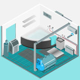 Heating Cooling System Interior Isometric Concept Stock Photography