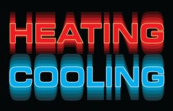 Heating Cooling Vibrant Design royalty free illustration