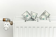 Heating costs Royalty Free Stock Image
