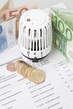 Heating costs Stock Image