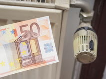 Heating costs (50 euro version) Royalty Free Stock Photography