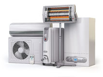 Heating devices and climate equipment.  Heating household applia Royalty Free Stock Images