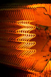 Heating element. Macro of working heating element Stock Photography