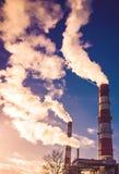 Heating energy smoke Stock Photography