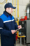 Heating engineer repairman Stock Images