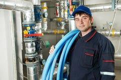 Heating engineer repairman Royalty Free Stock Image