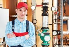 Heating engineer repairman Royalty Free Stock Photo