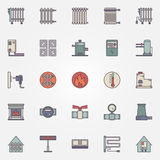 Heating flat icons Royalty Free Stock Photography
