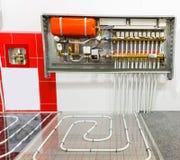 Heating floor system Royalty Free Stock Photos