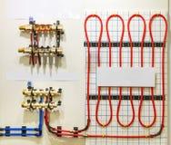 Heating floor system Stock Photos