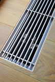 Heating grid with ventilation by the floor. Royalty Free Stock Image