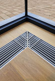 Heating grid with ventilation by the floor. Royalty Free Stock Photo