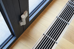 Heating grid with ventilation by the floor. Royalty Free Stock Photos