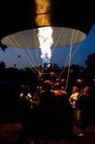 Heating the hot balloon. The Great Forest Park Balloon Race in St. Louis Royalty Free Stock Photos
