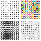 100 heating icons set vector variant. 100 heating icons set vector in 4 variant for any web design isolated on white Royalty Free Stock Image