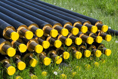 Heating mains pipes Stock Photo