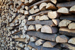Heating material wood Stock Photo