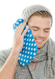 Heating Pad Headache Royalty Free Stock Image