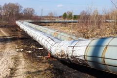 Heating pipelines Royalty Free Stock Photo