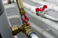 Heating Pipes Stock Image