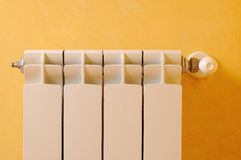 Heating radiator front view Stock Photography