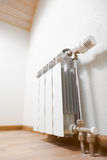 Heating radiator at home Stock Photos