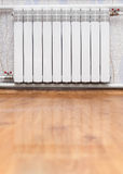 Heating radiator in room Royalty Free Stock Images