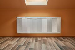 Heating Radiator in a Room royalty free stock images